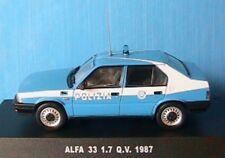 ALFA ROMEO 33 1.7 Q.V. 1987 POLIZIA DEAGOSTINI 1/43 NEW POLICE BLEU BLUE BLAU