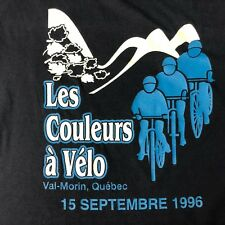 VTG 1996 Les Couleurs Á Vélo T-SHIRT Québec Bicycle bike cycling race 2XL 90s