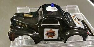 AURORA model Motoring Willys Gasser Black & White Sheriff CAR HO body only