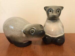 Howard Pierce Mid Century Porcelain California Pottery Bear Pair