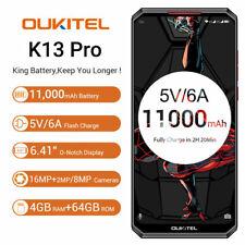 "Oukitel K13 Pro 6.41"" HD+ Octa 4GB+64GB Face ID NFC Android 9.0 4G Smartphone"