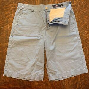 Vineyard Vines Boys Light Blue Flat Front Shorts Size 18