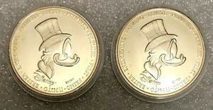 Walt Disney - The First Euro of Uncle Scrooge   Coin - Medaille - Medal  RARE!!!