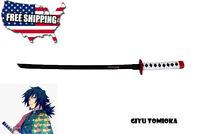 """16"""" Demon Slayer Kimetsu no Yaiba Giyu Tomioka Nichirin Blades Sword Figure"""