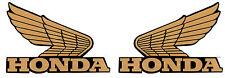 Honda logo wings gold/black 135mm x 90mm CBR RVF VFR vinyl stickers #ST013#