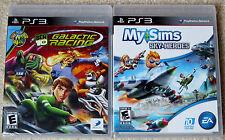 PS3 Game Lot - MySims Sky Heroes (New) Ben 10 Galactic Racing (New)