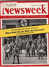 1944 Newsweek October 9 - Aimee Semple McPherson dies; Himmler trains fanatics