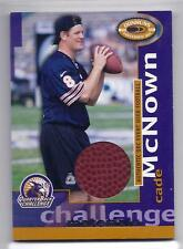 CADE MCNOWN 2000 Donruss RELIC USED Football RARE SP Ser #d 001/250 W@W BEARS