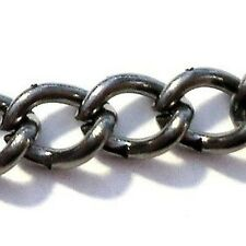 3 Meters Black Plated Cable Chain 6x4mmx1mm - A5481