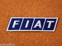 FIAT CARS ITALY BLUE STRIPE RACING SEW/IRON ON PATCH