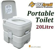 OZTRAIL 20 LITRE PORTABLE FLUSH CAMP CAMPING OUTDOOR TOILET *BRAND NEW*