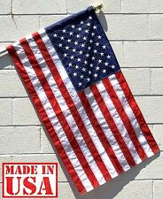 US Flag Factory 2.5'x4' US American Flag (Pole Sleeve) Outdoor Nylon (9254PH)