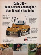 """1970 Cadet 60 Lawn Mower Tractor Snow Thrower Dump Trailer Blade Doze 36""""Path Ad"""