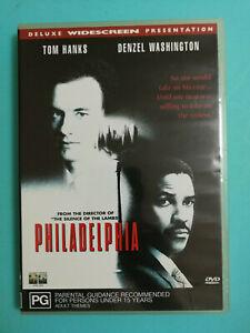 Philadelphia DVD Tom Hanks Denzel Washington PG R4 Award Winning Drama Classic