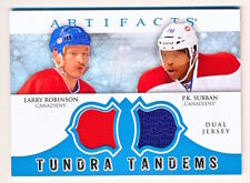 2012-13 Artifacts Larry Robinson & P.K. Subban Tundra Tandems Dual Jersey
