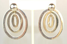 Jackets With 10 Mm Ball Studs Sterling Silver Large Triple Oval Hoop Earring