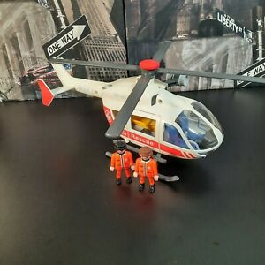 Playmobil set 4222 Medical Rescue Emergency Helicopter 2 Figures - Incomplete