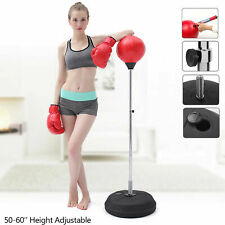 Boxing Speed Ball Train Free Standing Punching Bag Adjustable Mma Fight Gloves