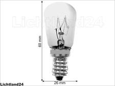 E14 - 15W - Kühlschranklampe - klar - Pigmy / Kolbenform 60x26mm 15 Watt