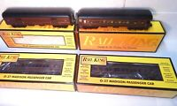 MTH Rail King  Pennsylvania  Four Car Lighted Madison Passenger Car Set-New&boxs