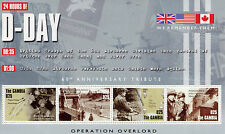 Gambia 2004 MNH D-Day 60th Anniv Operation Overlord 4v M/S WW2 WWII Stamps
