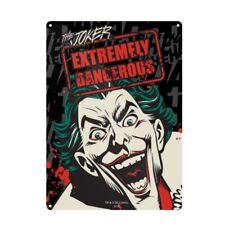 Genuine DC Comics Batman The Joker Small A5 Steel Sign Tin Wall Door Plaque Art