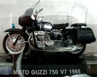 Moto Guzzi 750 V7 1966 Carabinieri - Scala 1:24 Die Cast - Atlas Nuova