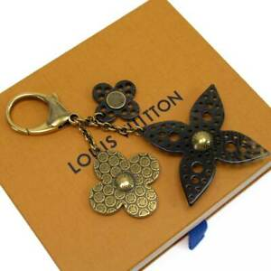 Auth Louis Vuitton Bijou Sac Rock Flower Bag Charm Gold M65850 - h22477