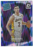 2017-18 Optic Rated Rookie Lonzo Ball RC #199 Silver & Blue Flash Prizm LA Laker