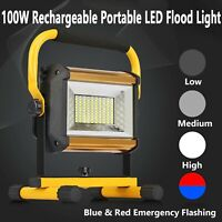 100W Rechargeable LED Work Light Portable LED Flood Light For Camping Outdoor