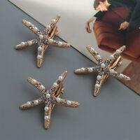 Bridal Headpiece Starfish Hairpin Hair Clips Rhinestone Pearl Girls Barrettes