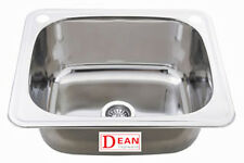 Laundry Sink Tub Trough Stainless Steel 35L with ByPass Kit