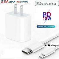 18W PD USB-C to 8 Pin iPhone Cable Fast Charger Cord For iPhone 12 11 11 Pro Max