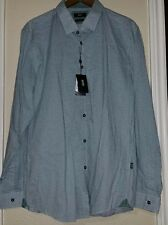 Men's HUGO BOSS Ecru Black Green LOK Shirt  XL  NWT NEW $145