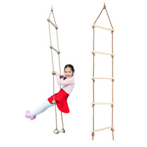 Children Indoor And Outdoor Playhouse Wood 5 Rungs 300 KG Rope Climbing