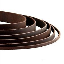Lederband Lederriemen Lederbänder flach - 2/3/4/5/8/10/15/20/25/30/35/40 mm