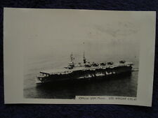 Old RPPC USS WRIGHT Aircraft Carrier US Navy CVL49 USN Photo Postcard LL Cook