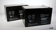 (2) Casil 12v 12ah F2 BATTERY PRIDE JAZZY POWER CHAIR Z-CHAIR