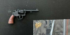 1/6 scale WWII SSgt Donald Figure Revolver Gun & 6 rounds Indiana Jones Hot Toys