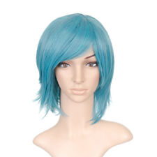 Blue Green Short Shoulder Length Anime Cosplay Costume Wig