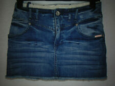 SUPERDRY Denim Mini Skirt Short Blue Jean Summer Holiday Stretch Size 8 W26