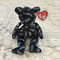 Silver New Zealand  Bear Collectible Ty Beanie Babies New w Tags