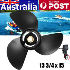 Boat Propeller 3 Blades 13 3/4 x 15 Aluminium Prop for Johnson 40-140HP Engines
