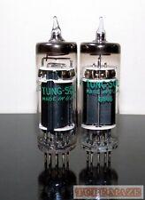 RARE Matched Pair Bendix 6094 Black Plate tubes - Test NOS