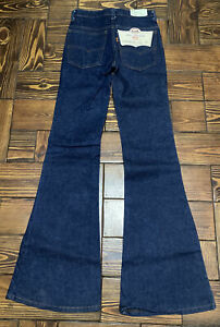 NWT New Vintage Levis 1970s 684 BIG BELL Bottoms Jeans USA Orange Tab-28 x36