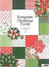 Evergreen Christmas Twist decoupage paper pad by Kanban 160gsm craft card making
