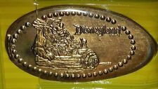 Disney Penny Press Elongated Coin Disneyland Brer Bear In Wood Boat With Rabbit
