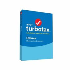 TurboTax 2017 Deluxe Tax Software Intuit Windows Mac Federal State CD Disc