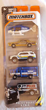 MATCHBOX MBX POLICE SQUAD 5 PACK GIFT SET LOT CASE 60TH ANNIVERSARY MISSION COP
