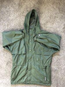Helly Hansen HH Full Zip Snap Nylon Packable Rain Jacket Sz XL Hood
